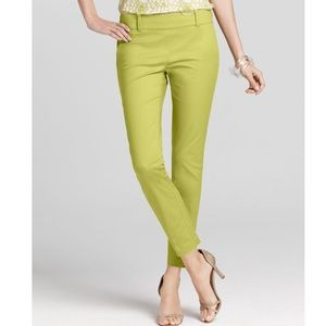 Ann Taylor Cropped Pants in Lime